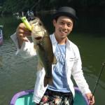 釣れた魚と釣った魚 ポッパーで40up! IN 亀山湖
