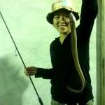 アナゴの刺身を求めて、夏の夜にアナゴ釣りに行ってきました!!