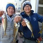 12月3日 絶好調のLTアジに挑戦! 渡辺釣船店より出船!