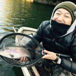 2016/12/08(木)弁慶堀 冬の赤坂名物、巨大ニジマスを釣ってきた!