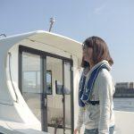 4代目アングラーズアイドル晴山由梨さんと「ボート倶楽部」の取材です