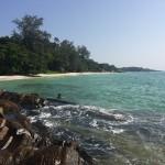 タイ、サメット島で釣りをする