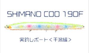 【クー 190f】SHIMANO COO 190F 干潟でシーバス連発!!