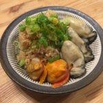 カヤック仲間の先輩からタイラギと野良牡蠣を頂いたので牡蠣飯を作りました!