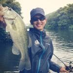 DoLiveShadで初めて釣った!in 相模湖 8月27日