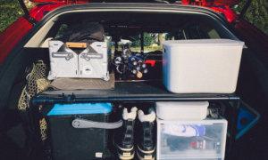 【釣車のラック完全版?】CX-5に設置したイレクターパイプラックの問題点を改善!