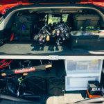 【釣り車の荷室】CX-5のラゲッジルームにエレキセットを収納する方法をご紹介!