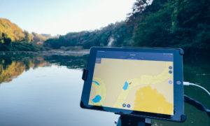 【神アプリ】GARMINのActiveCaptainという無料アプリでタブレットが等深線専用魚探に早変わり!?