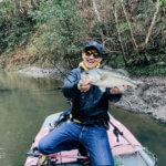 【春の豊英ダム】一緒に釣り行きま賞の同船釣行でついに初バスキャッチできたよ!ドライブシャッドありがとう!